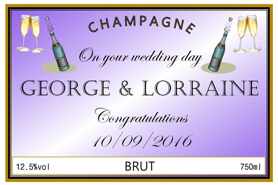 personalised-wedding-champagne-label-lilac